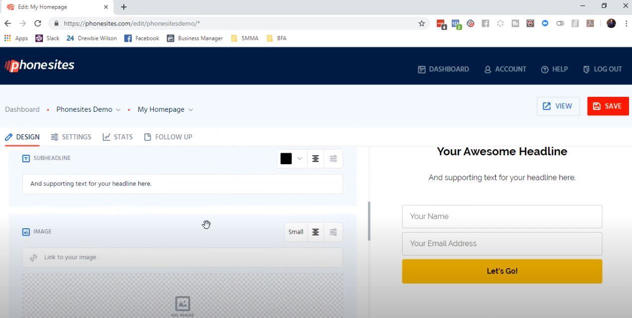 PhoneSites design websites
