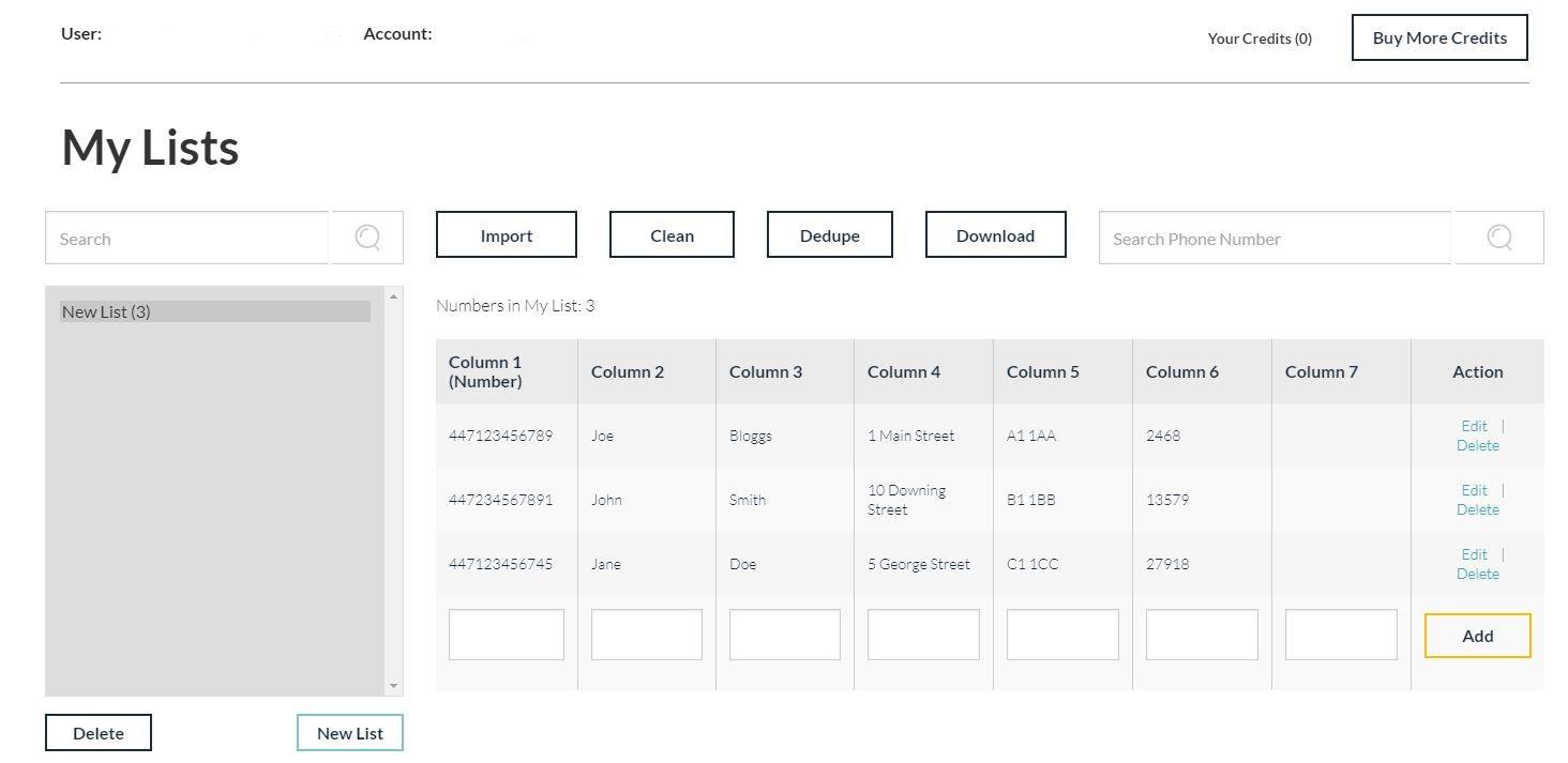 Reach Interactive lists screenshot