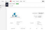 Captura de tela do Archdesk: With a full accounting system built-in, users can quickly preview and print professional invoices
