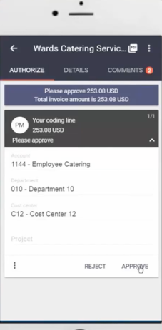 MediusFlow mobile authorization screenshot