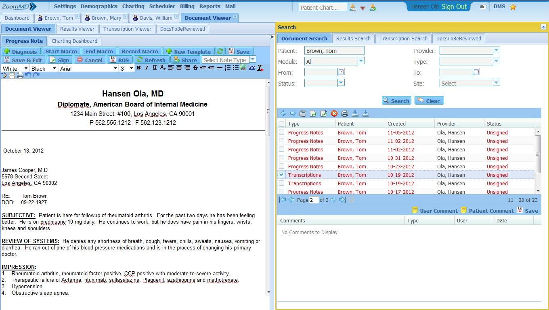 ZoomMD Software - Document Viewer