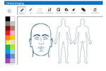 Clinicea screenshot: Imaging technology allows users to upload any type of image for a patient, and draw on or annotate them