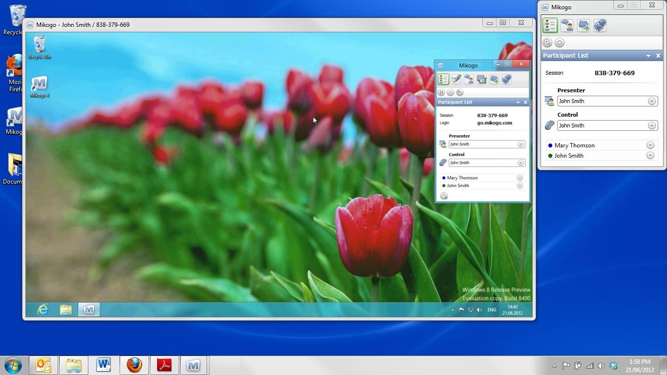 Mikogo desktop sharing
