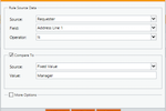 Integrify screenshot: Create sophisticated business rules for processes.