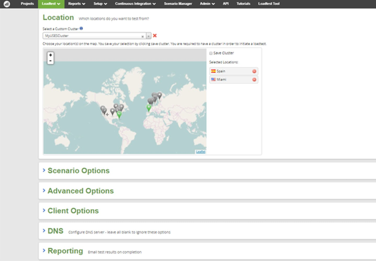 Apica Software - Apica LoadTest global coverage