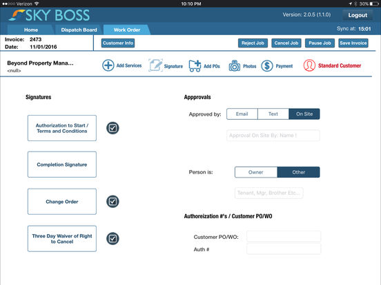 The SkyBoss app for iOS and compatible with iPad devices puts field support features and system access in the hands of technicians