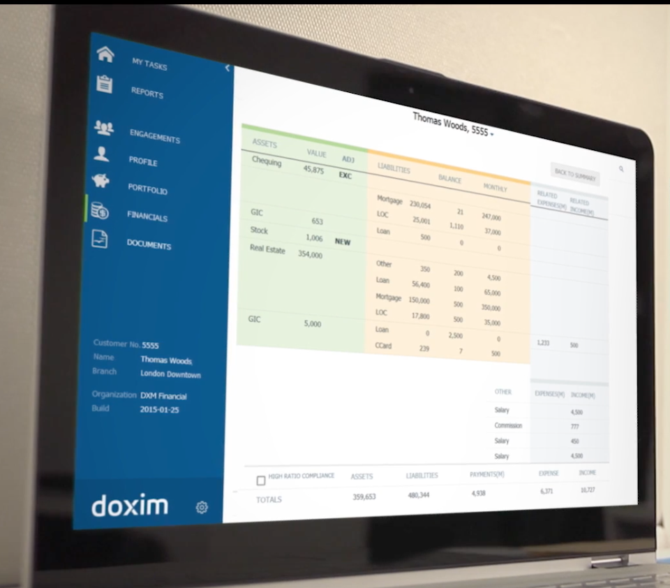 Doxim's CRM software is built specifically to cater to the needs of banks and credit unions