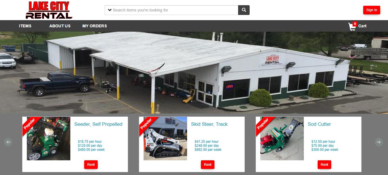 EZRentOut Web store