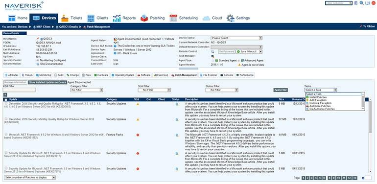 Naverisk desktop and server management screenshot