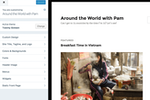 WordPress screenshot: Design management