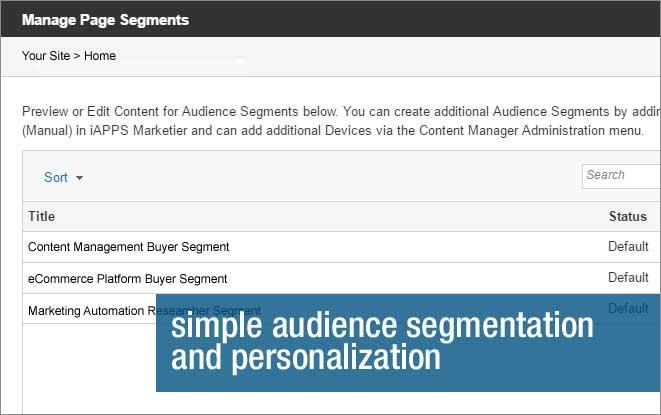 Audience segmentation and personalization