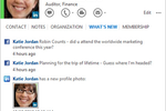 Microsoft Outlook screenshot: Manage contact information, and follow social updates