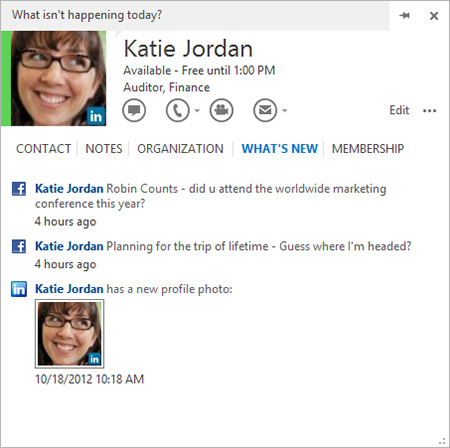 Manage contact information, and follow social updates