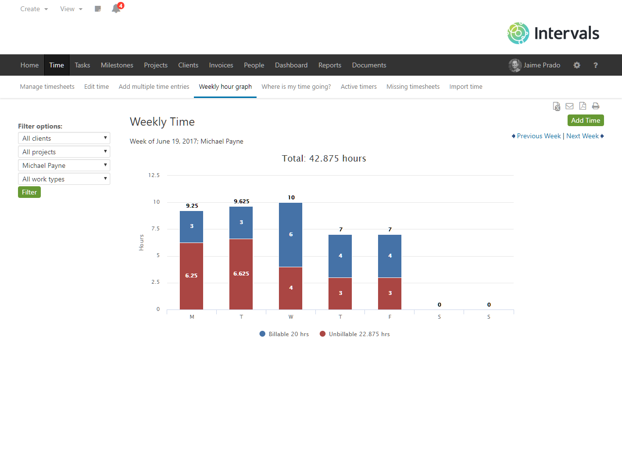 Intervals Software - Time tracking and reporting