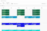 Aspire screenshot: Drag and drop schedule boards with integrated payroll processing