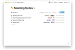 Notion screenshot: Notion meeting notes