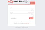 Email List Verify Screenshot: EmailListVerify's login page