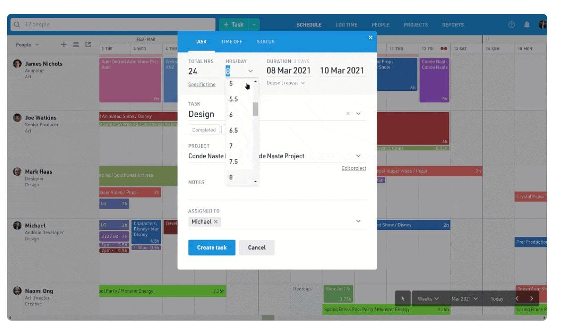 Float Software - Float project planning