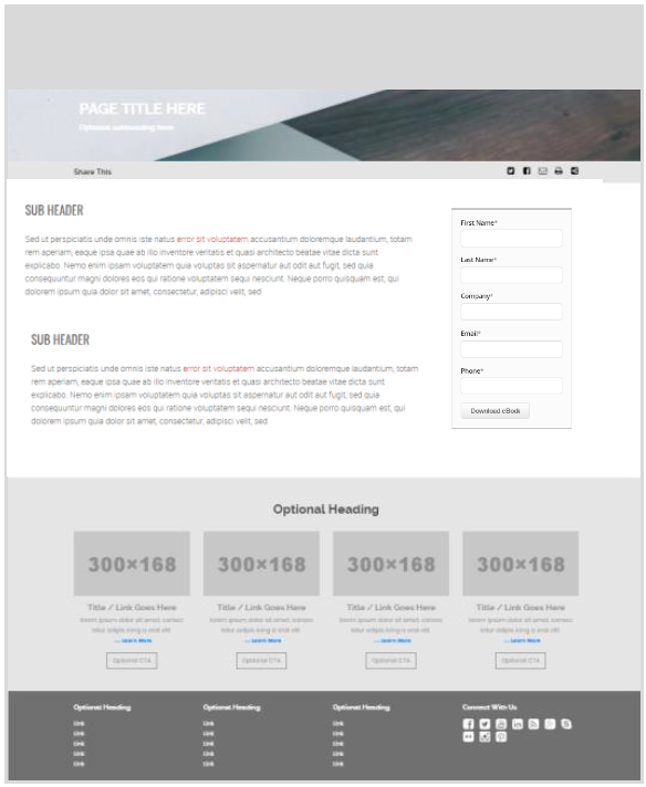 Build pages using a flexible page builder