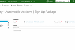 Captorra screenshot: Users can manage physical signup packages with Captorra, updating statuses as packages are sent or returned