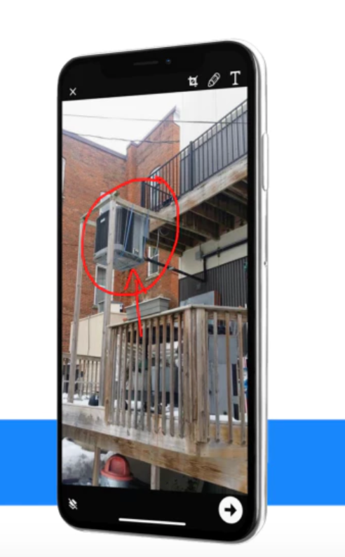 Illustrate and communicate problems from the field with annotated photos