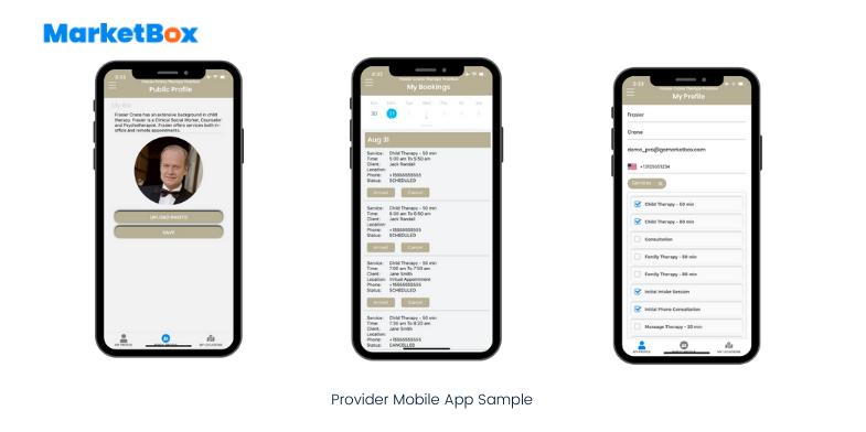 MarketBox Software - Provider Mobile App