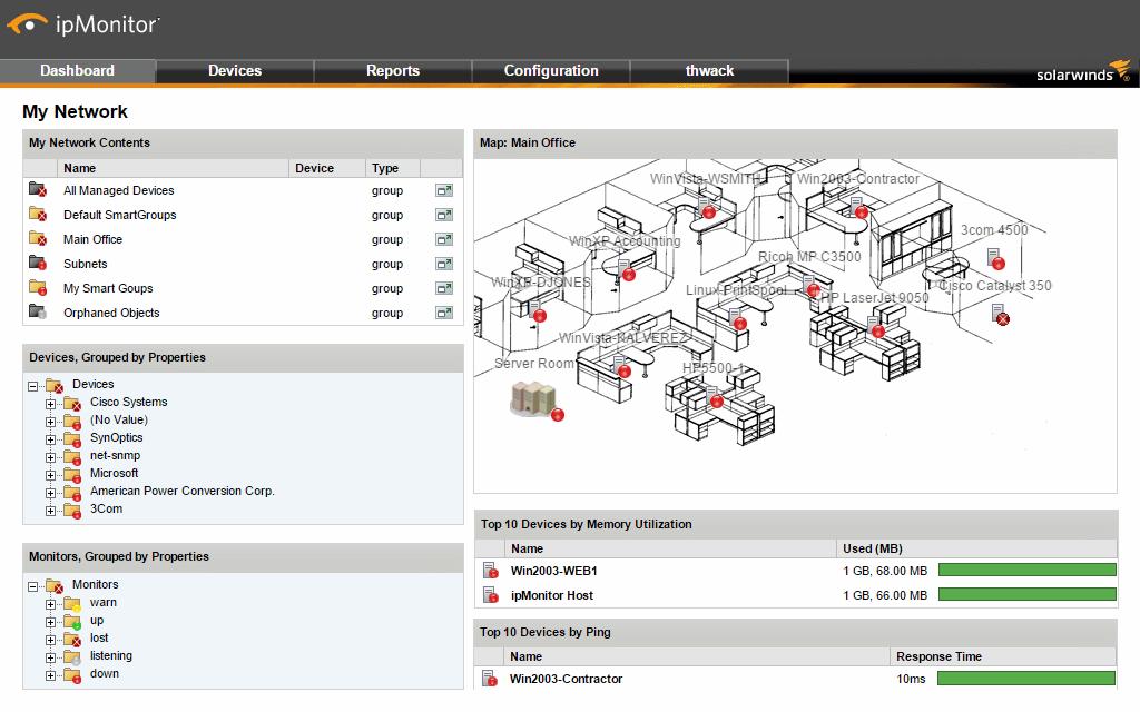 ipMonitor network maps