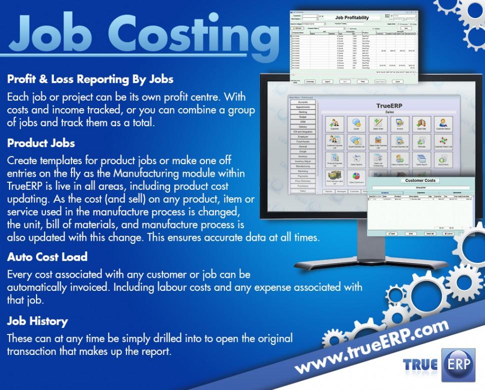 TrueERP Software - Job Costing