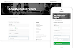 Donately screenshot: Customizable campaign pages are designed to motivate giving