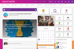Claromentis screenshot: Digital workplace homepage, created using our drag & drop CMS and intranet design tools