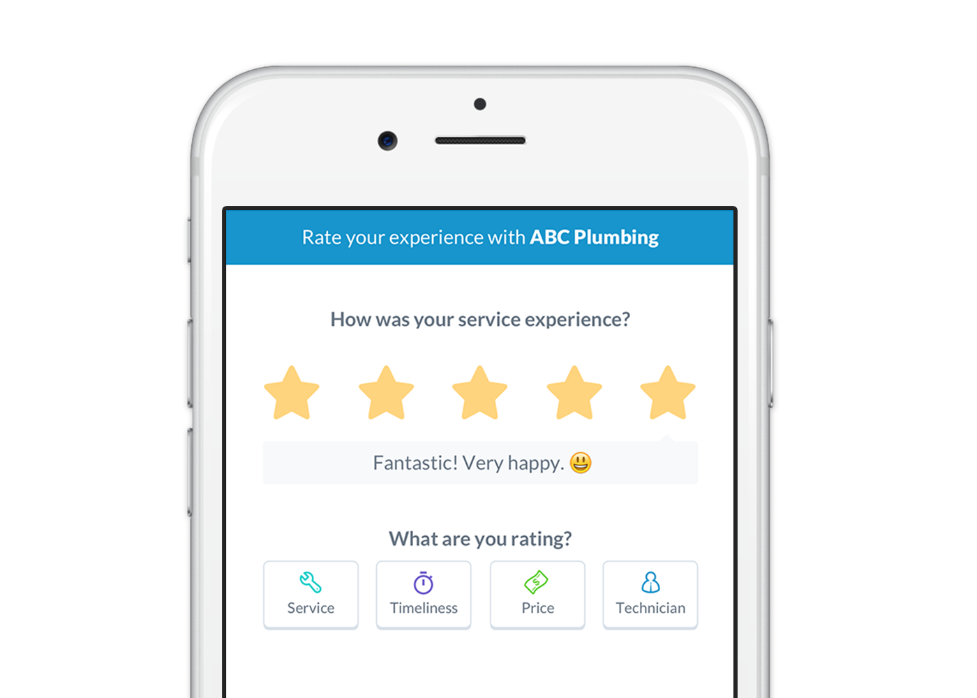 Allow customers to rate their service after a job is completed