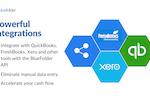 Captura de tela do BlueFolder: Streamline billing and accelerate your cashflow with QuickBooks, FreshBooks and Xero integrations.