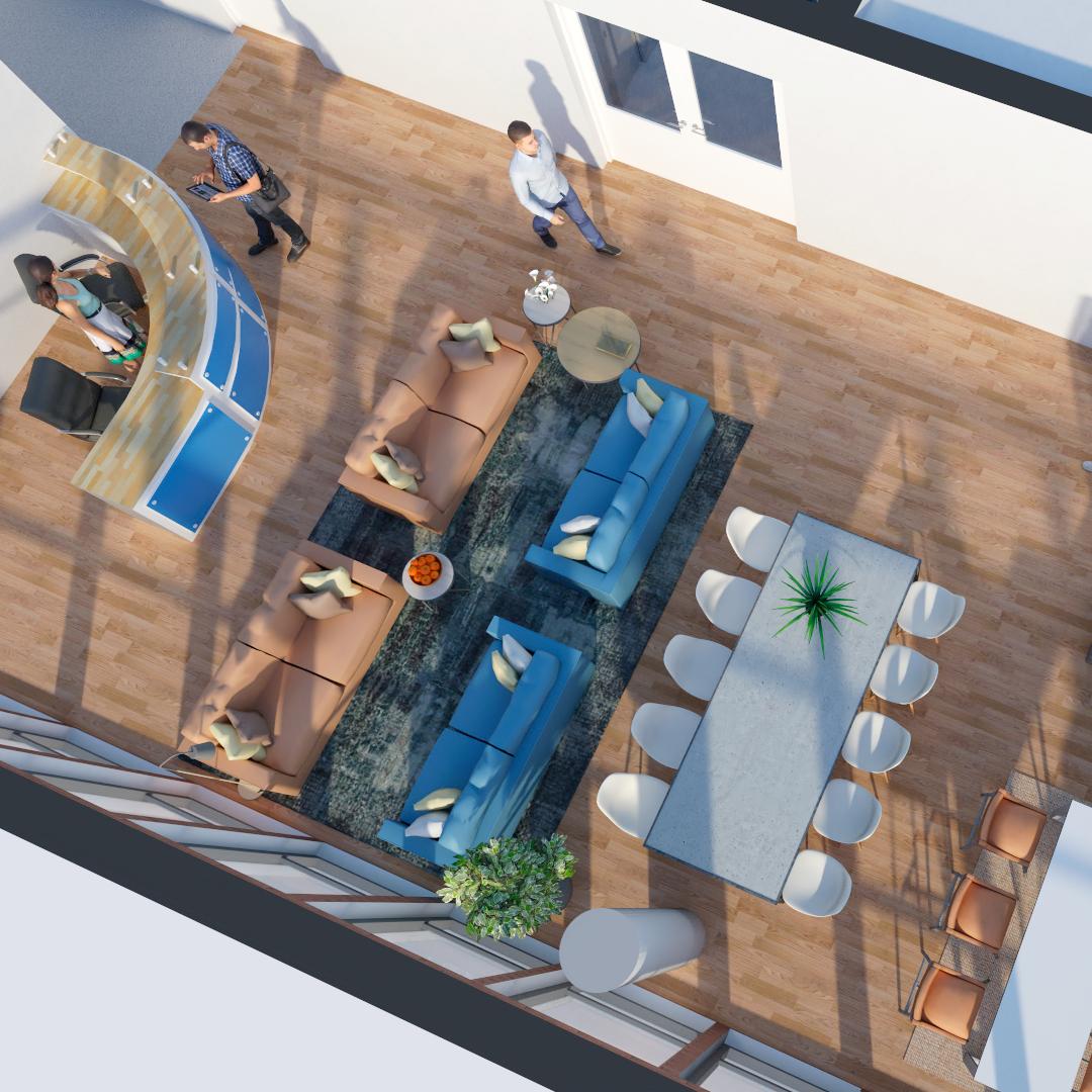 Office space rendering