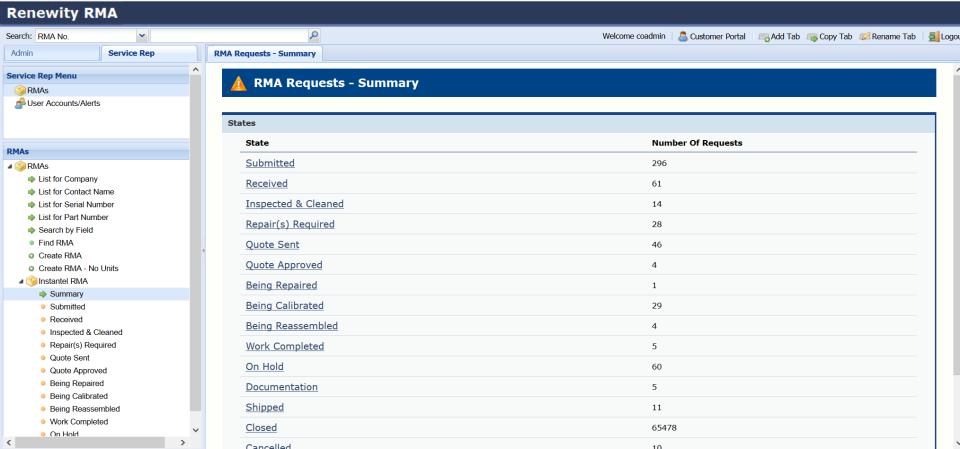 RenewityRMA Software - 2