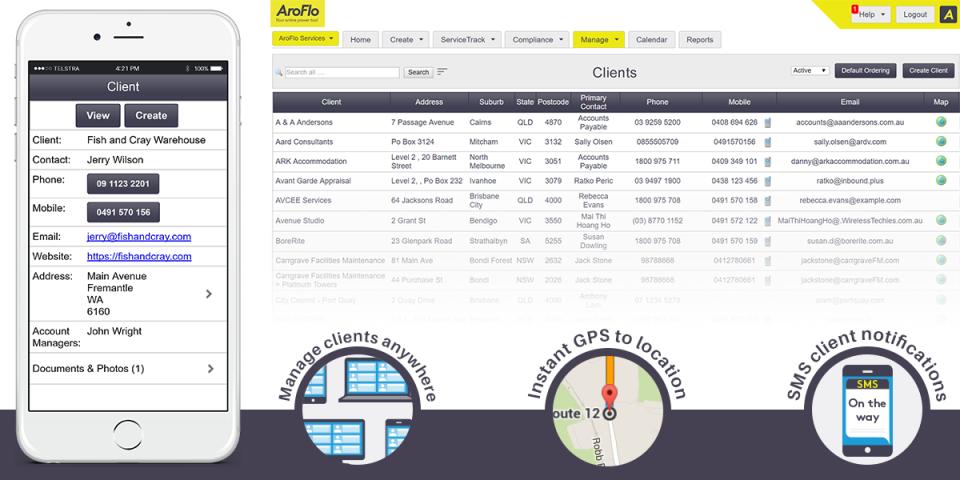 AroFlo Software - Full client management
