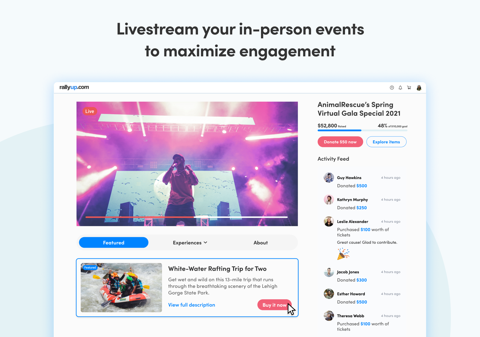 Livestream your in-person events to maximize engagement