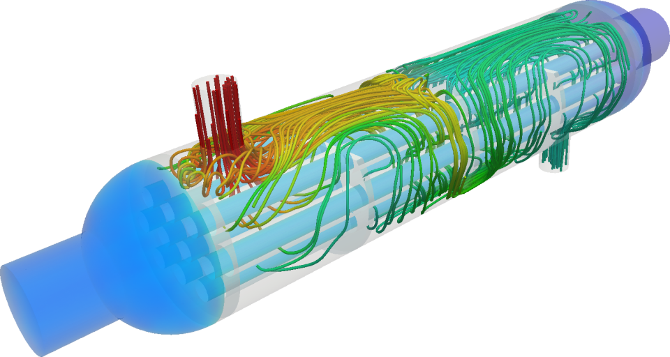 Conjugate heat transfer simulation of a heat exchanger with SimScale