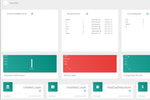 Capture d'écran pour TracxTMS : The dashboard shows a snapshot of your current statuses for deliveries, driver status and multiple accounting and tracking data