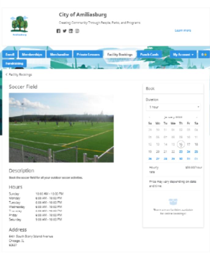 SmartRec facility booking