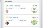 Pipeliner CRM screenshot: mobile opportunity view list