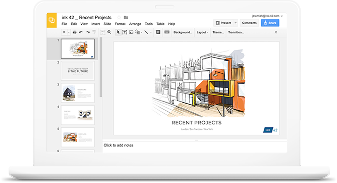 Create, edit and present presentations from any smart device