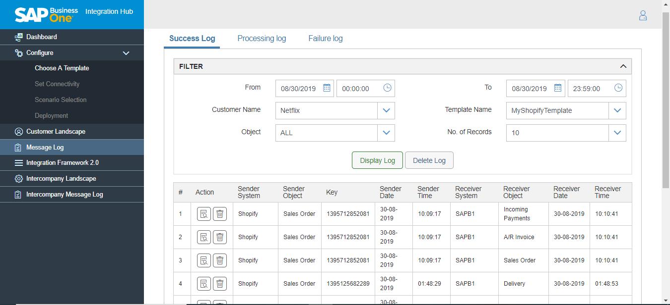 Integration Hub pre-configured templates