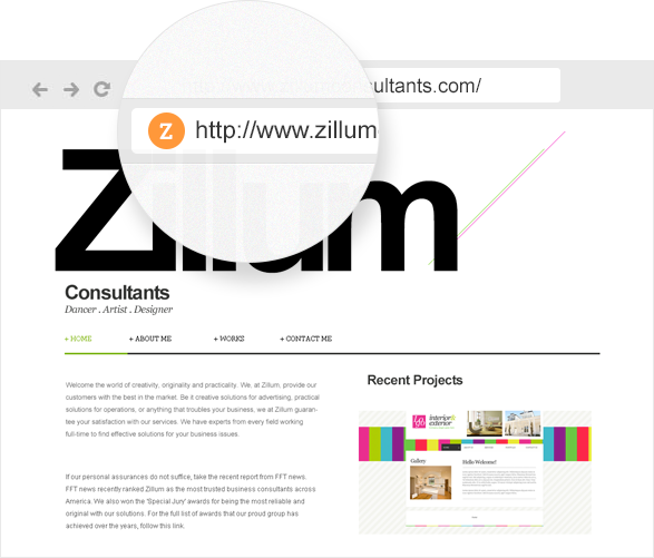 Users can create a unique signature with custom logos, favicons, and footers in Zoho Sites