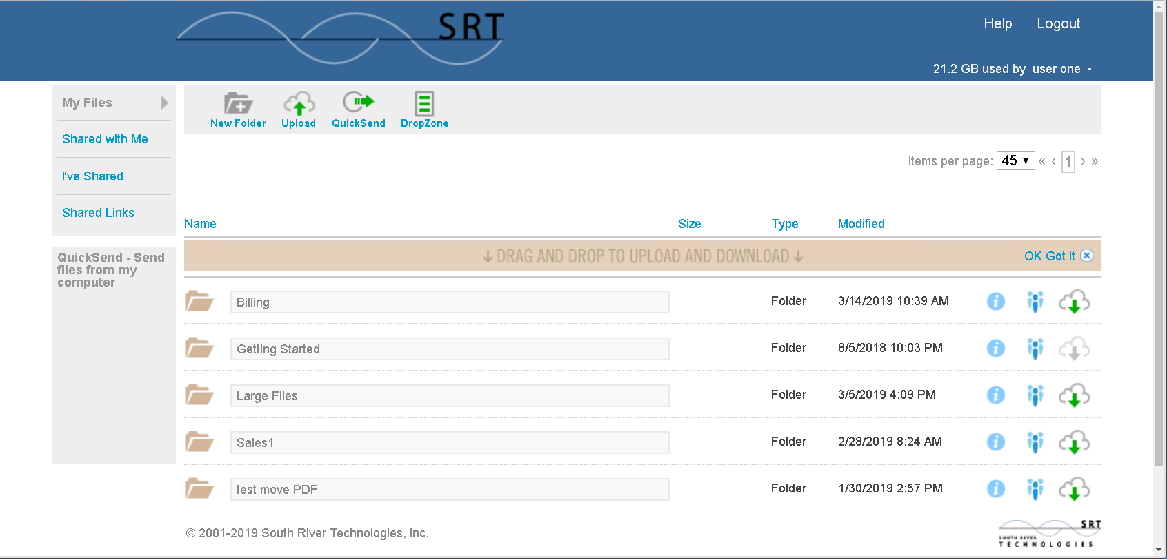 Cornerstone MFT Server Software - Dashboard