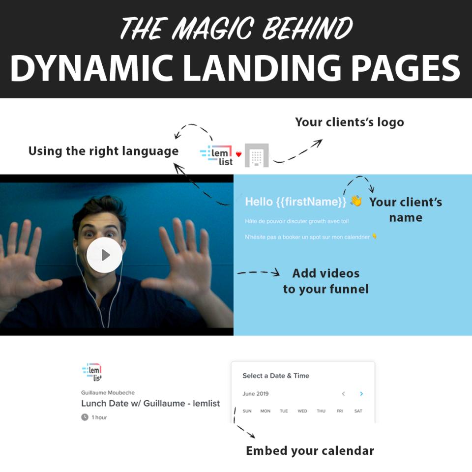 lemlist Software - Dynamic landing pages