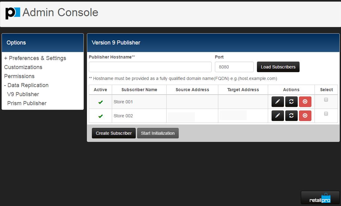 Retail Pro Software - Configure administrative settings