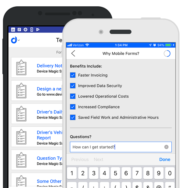 Mobile forms
