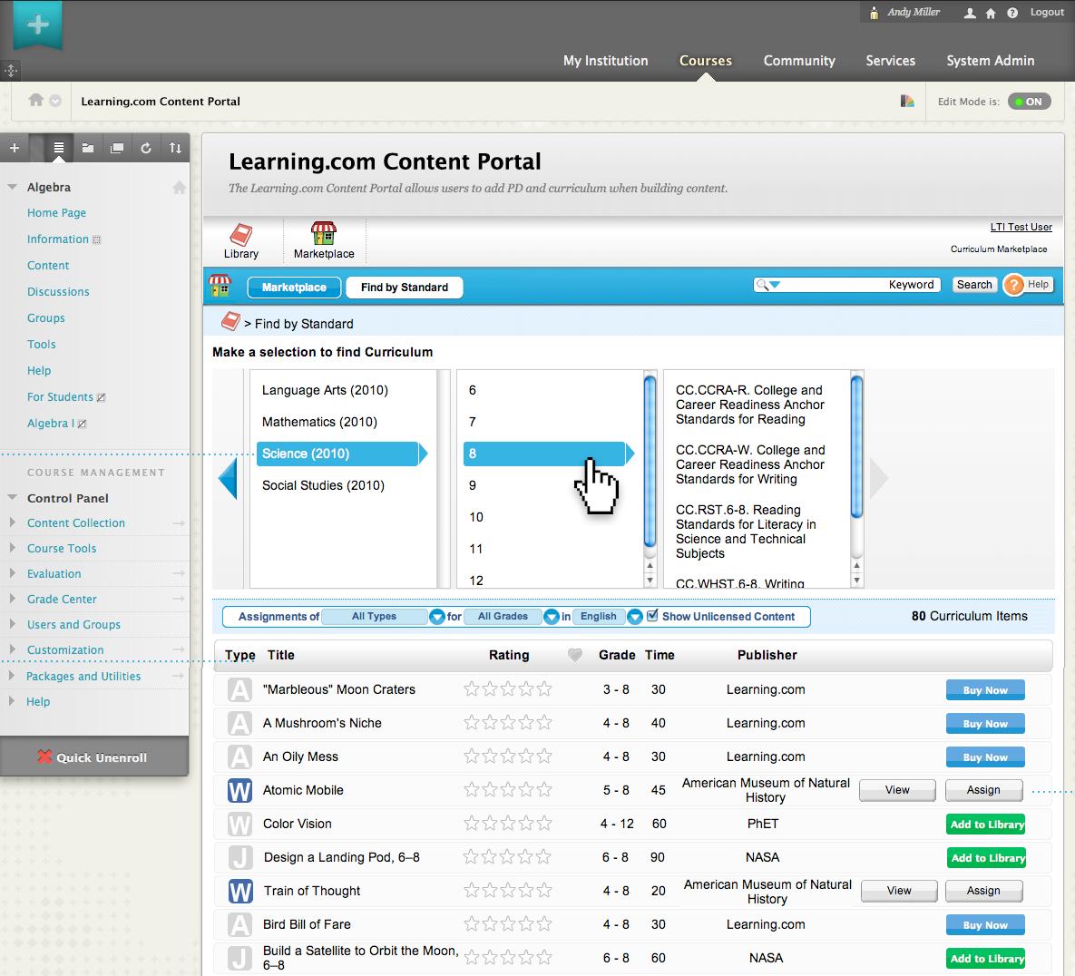 Blackboard Learn Software - Instructor resources