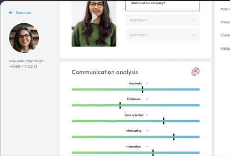 Talentcube communication analysis