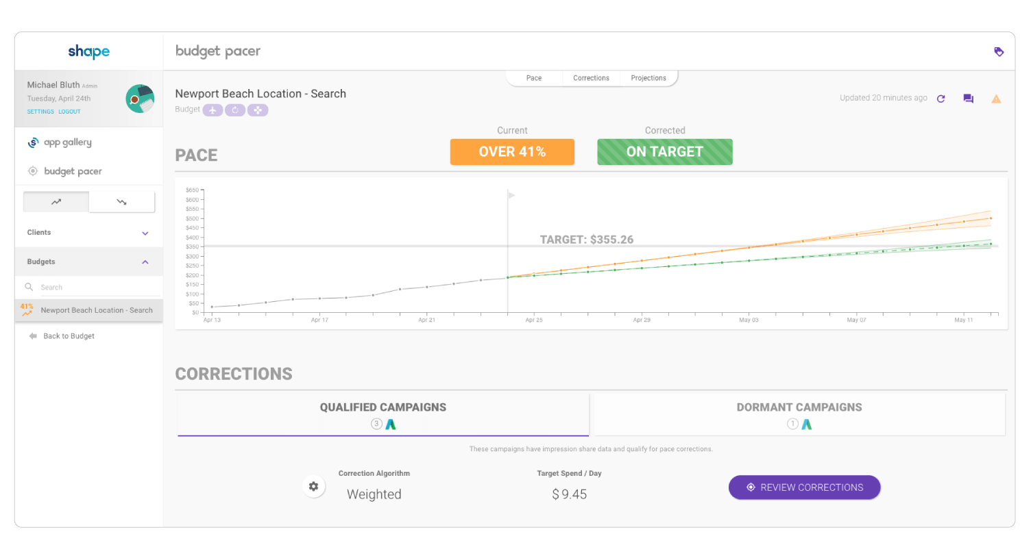 Automated PPC Budget Pacing